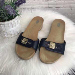 Dr. Scholls Navy Blue Sandals
